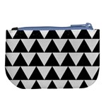 TRIANGLE2 BLACK MARBLE & WHITE LINEN Large Coin Purse Back