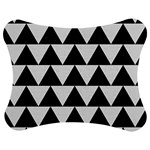 TRIANGLE2 BLACK MARBLE & WHITE LINEN Jigsaw Puzzle Photo Stand (Bow)