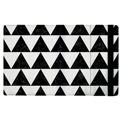 Triangle2 Black Marble & White Linen Apple Ipad Pro 9 7   Flip Case by trendistuff