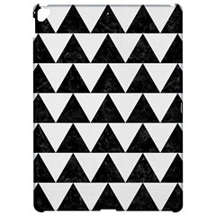 Triangle2 Black Marble & White Linen Apple Ipad Pro 12 9   Hardshell Case by trendistuff