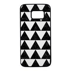 TRIANGLE2 BLACK MARBLE & WHITE LINEN Samsung Galaxy S7 Black Seamless Case