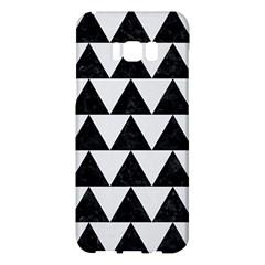 TRIANGLE2 BLACK MARBLE & WHITE LINEN Samsung Galaxy S8 Plus Hardshell Case