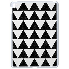Triangle2 Black Marble & White Linen Apple Ipad Pro 9 7   White Seamless Case by trendistuff