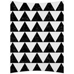 TRIANGLE2 BLACK MARBLE & WHITE LINEN Back Support Cushion