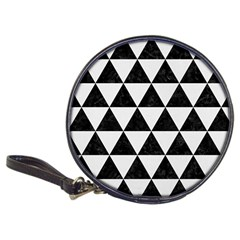 Triangle3 Black Marble & White Linen Classic 20 Cd Wallets by trendistuff