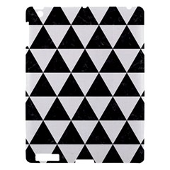 Triangle3 Black Marble & White Linen Apple Ipad 3/4 Hardshell Case by trendistuff