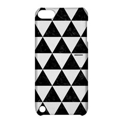Triangle3 Black Marble & White Linen Apple Ipod Touch 5 Hardshell Case With Stand by trendistuff