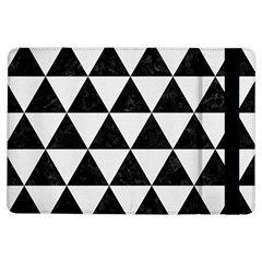 Triangle3 Black Marble & White Linen Ipad Air Flip by trendistuff
