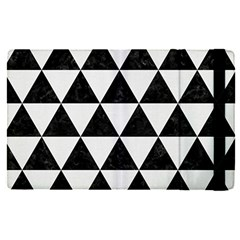 Triangle3 Black Marble & White Linen Apple Ipad Pro 12 9   Flip Case by trendistuff