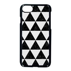 Triangle3 Black Marble & White Linen Apple Iphone 8 Seamless Case (black)