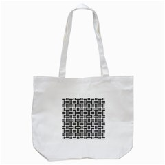 Woven1 Black Marble & White Linen Tote Bag (white) by trendistuff