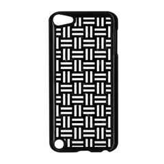 Woven1 Black Marble & White Linen (r) Apple Ipod Touch 5 Case (black) by trendistuff