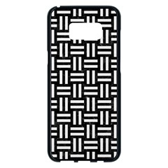 Woven1 Black Marble & White Linen (r) Samsung Galaxy S8 Plus Black Seamless Case