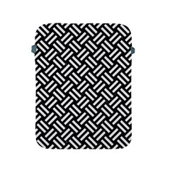 Woven2 Black Marble & White Linen (r) Apple Ipad 2/3/4 Protective Soft Cases by trendistuff