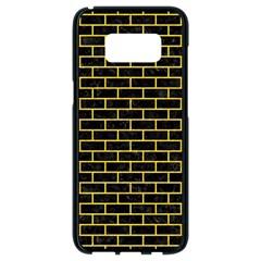 Brick1 Black Marble & Yellow Colored Pencil (r) Samsung Galaxy S8 Black Seamless Case by trendistuff