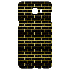 Brick1 Black Marble & Yellow Colored Pencil (r) Samsung C9 Pro Hardshell Case  by trendistuff