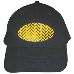 Brick2 Black Marble & Yellow Colored Pencil Black Cap by trendistuff