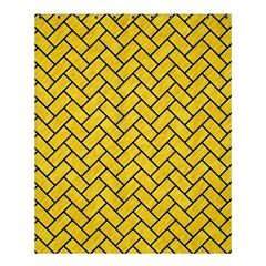 Brick2 Black Marble & Yellow Colored Pencil Shower Curtain 60  X 72  (medium)  by trendistuff