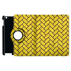Brick2 Black Marble & Yellow Colored Pencil Apple Ipad 2 Flip 360 Case
