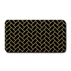 Brick2 Black Marble & Yellow Colored Pencil (r) Medium Bar Mats by trendistuff