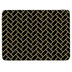 Brick2 Black Marble & Yellow Colored Pencil (r) Samsung Galaxy Tab 7  P1000 Flip Case by trendistuff