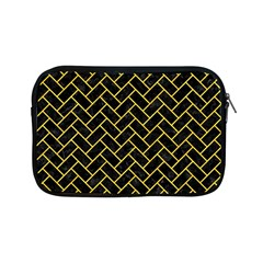 Brick2 Black Marble & Yellow Colored Pencil (r) Apple Ipad Mini Zipper Cases by trendistuff