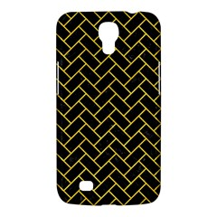 Brick2 Black Marble & Yellow Colored Pencil (r) Samsung Galaxy Mega 6 3  I9200 Hardshell Case by trendistuff