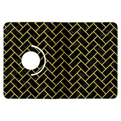 Brick2 Black Marble & Yellow Colored Pencil (r) Kindle Fire Hdx Flip 360 Case by trendistuff