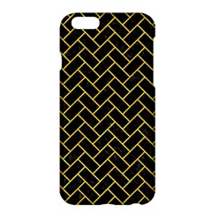 Brick2 Black Marble & Yellow Colored Pencil (r) Apple Iphone 6 Plus/6s Plus Hardshell Case by trendistuff