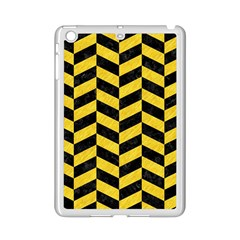 Chevron1 Black Marble & Yellow Colored Pencil Ipad Mini 2 Enamel Coated Cases