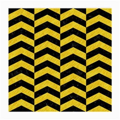 Chevron2 Black Marble & Yellow Colored Pencil Medium Glasses Cloth by trendistuff