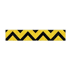 Chevron9 Black Marble & Yellow Colored Pencil Flano Scarf (mini)