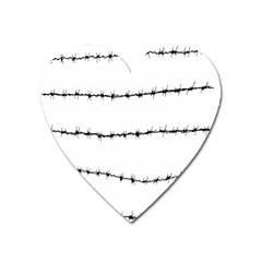 Barbed Wire Black Heart Magnet by Mariart