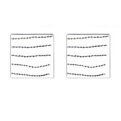 Barbed Wire Black Cufflinks (square) by Mariart