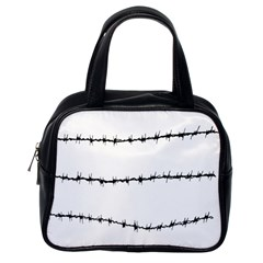 Barbed Wire Black Classic Handbags (one Side) by Mariart