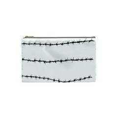 Barbed Wire Black Cosmetic Bag (small)  by Mariart