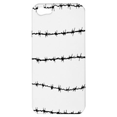 Barbed Wire Black Apple Iphone 5 Hardshell Case by Mariart