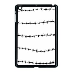 Barbed Wire Black Apple Ipad Mini Case (black) by Mariart
