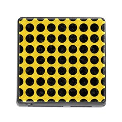 Circles1 Black Marble & Yellow Colored Pencil Memory Card Reader (square) by trendistuff