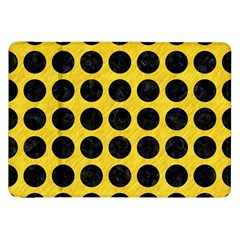 Circles1 Black Marble & Yellow Colored Pencil Samsung Galaxy Tab 8 9  P7300 Flip Case by trendistuff