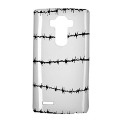 Barbed Wire Black Lg G4 Hardshell Case by Mariart