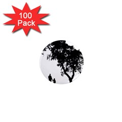 Black Father Daughter Natural Hill 1  Mini Magnets (100 Pack)  by Mariart