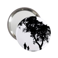 Black Father Daughter Natural Hill 2 25  Handbag Mirrors