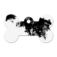 Black Father Daughter Natural Hill Dog Tag Bone (two Sides) by Mariart
