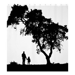 Black Father Daughter Natural Hill Shower Curtain 66  X 72  (large)  by Mariart