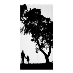 Black Father Daughter Natural Hill Shower Curtain 36  X 72  (stall)  by Mariart