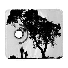 Black Father Daughter Natural Hill Galaxy S3 (flip/folio) by Mariart