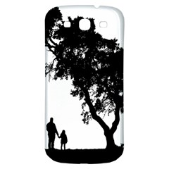 Black Father Daughter Natural Hill Samsung Galaxy S3 S Iii Classic Hardshell Back Case by Mariart