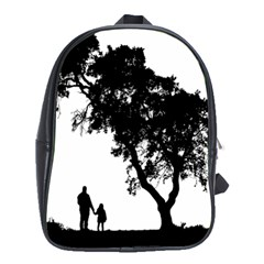 Black Father Daughter Natural Hill School Bag (xl) by Mariart