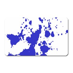 Blue Plaint Splatter Magnet (rectangular) by Mariart